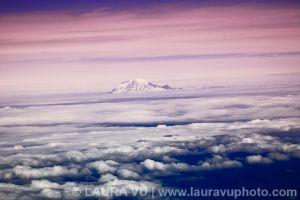 Mt. Rainier From High Above - Mt. Rainier National Park, Washington