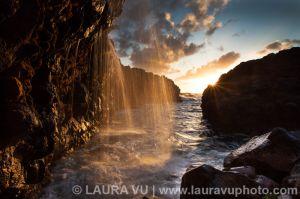Golden Waterfall - Kauai, Hawaii