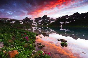 Reflection Sunset - Upper Ice Lake Basin, CO